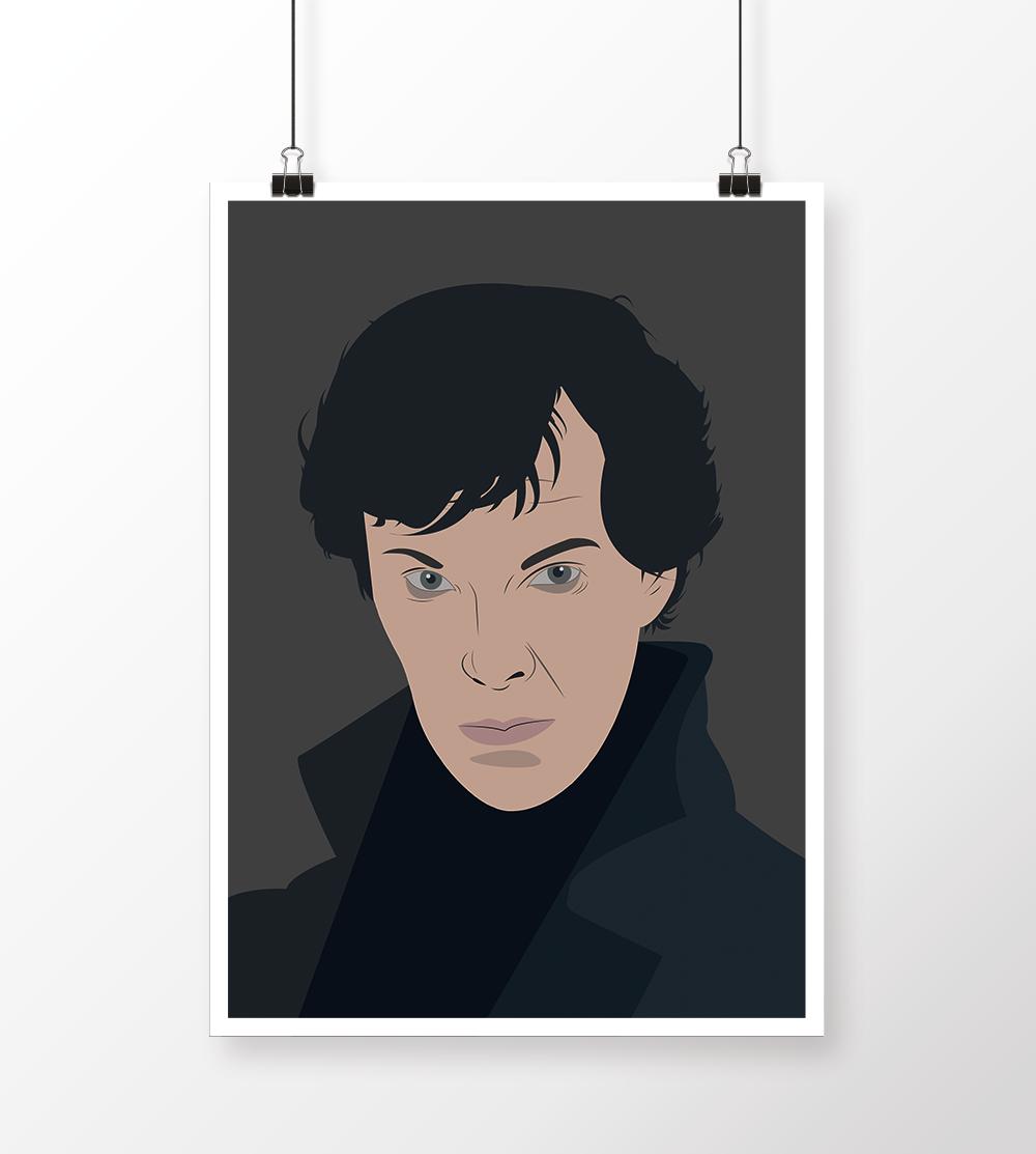 Illustrasjon av Sherlock Holmes
