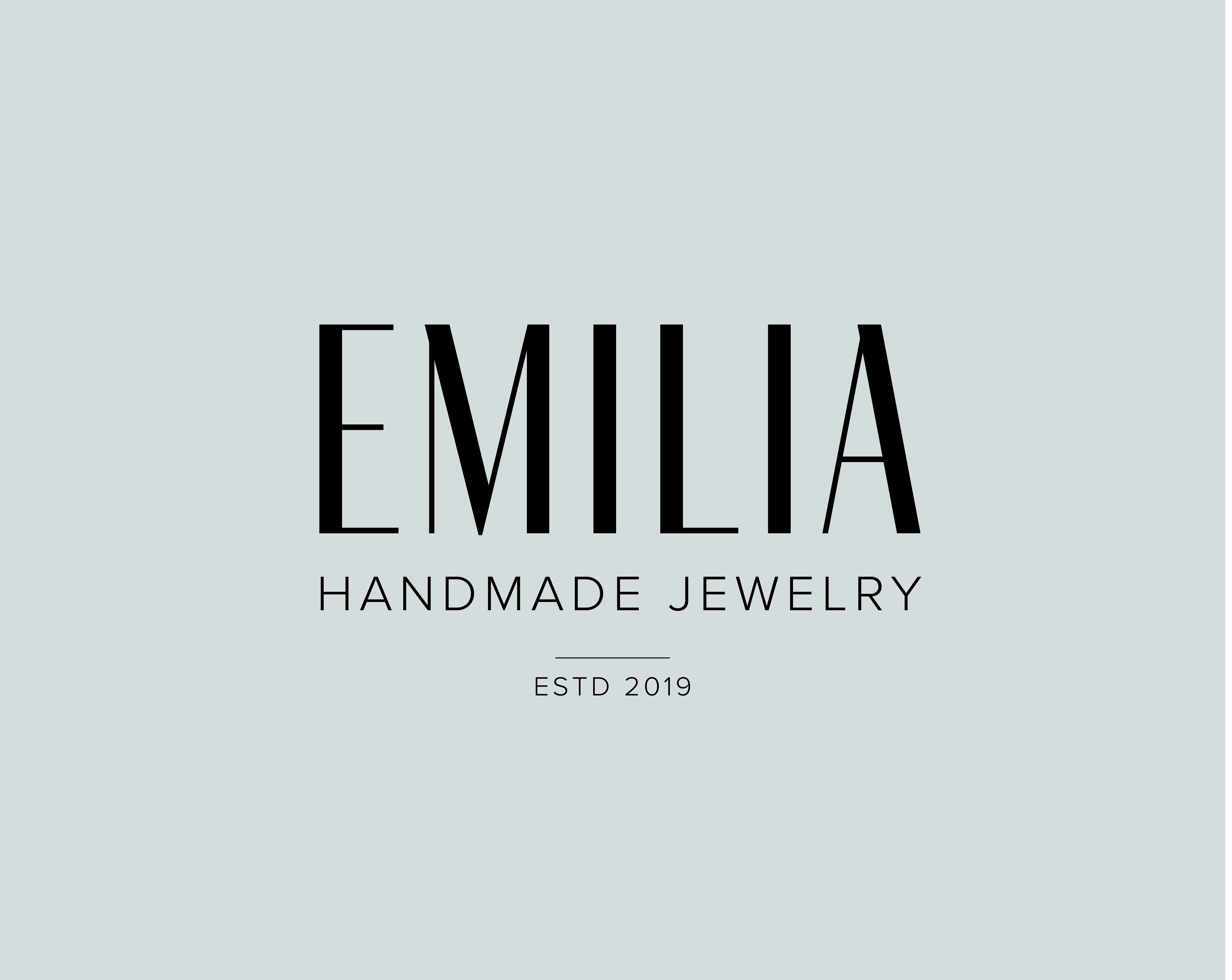 """Logo til fiktivt selskap med navn """"Emilia"""""""