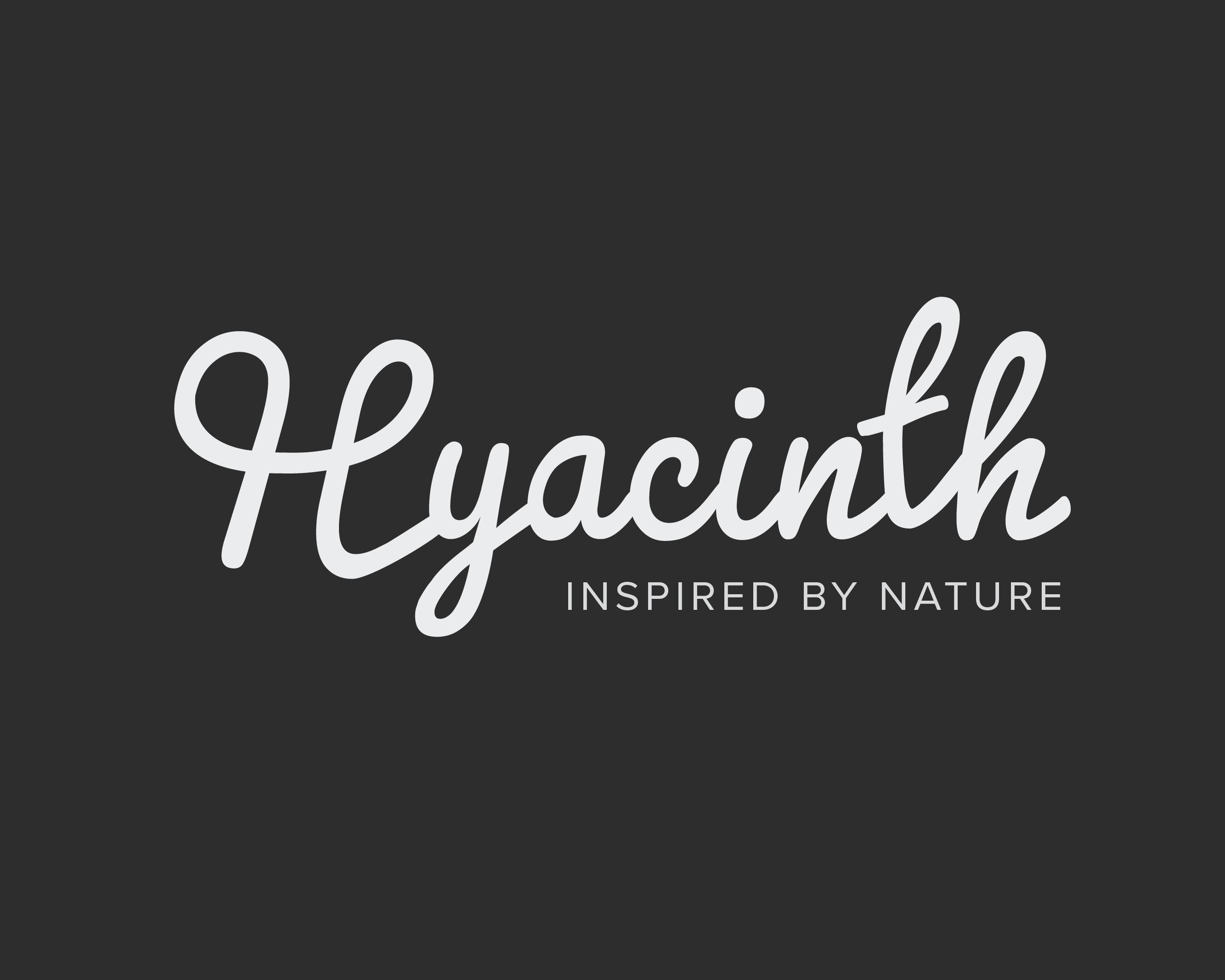"""Logo til fiktivt selskap med navn """"Hyacinth"""""""